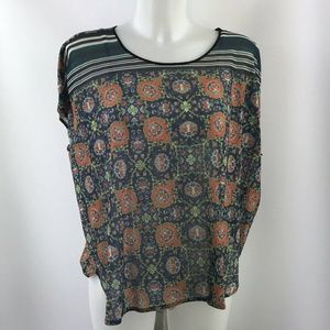 Clover Canyon Blue Short Sleeve Top Size Small